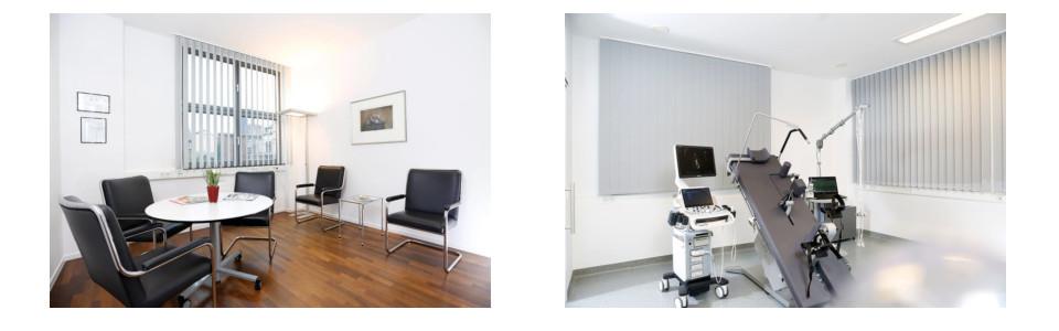 Behandlungszimmer Dr. Diekmann, Wartezimmer Dr. Diekmann